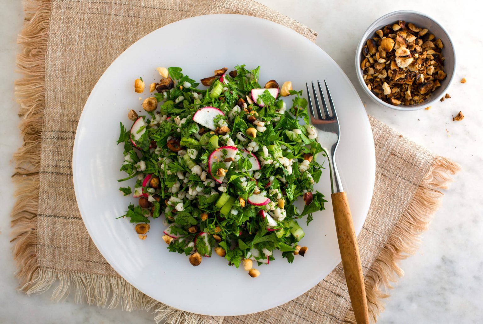 zeytinyagli maydanoz salatasi 2
