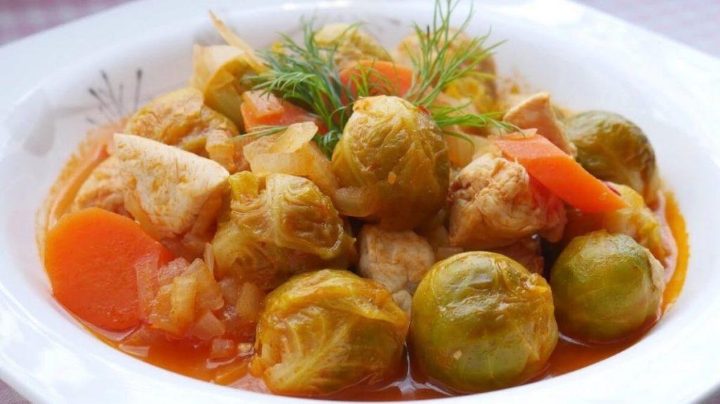 zeytinyağlı brüksel lahanası