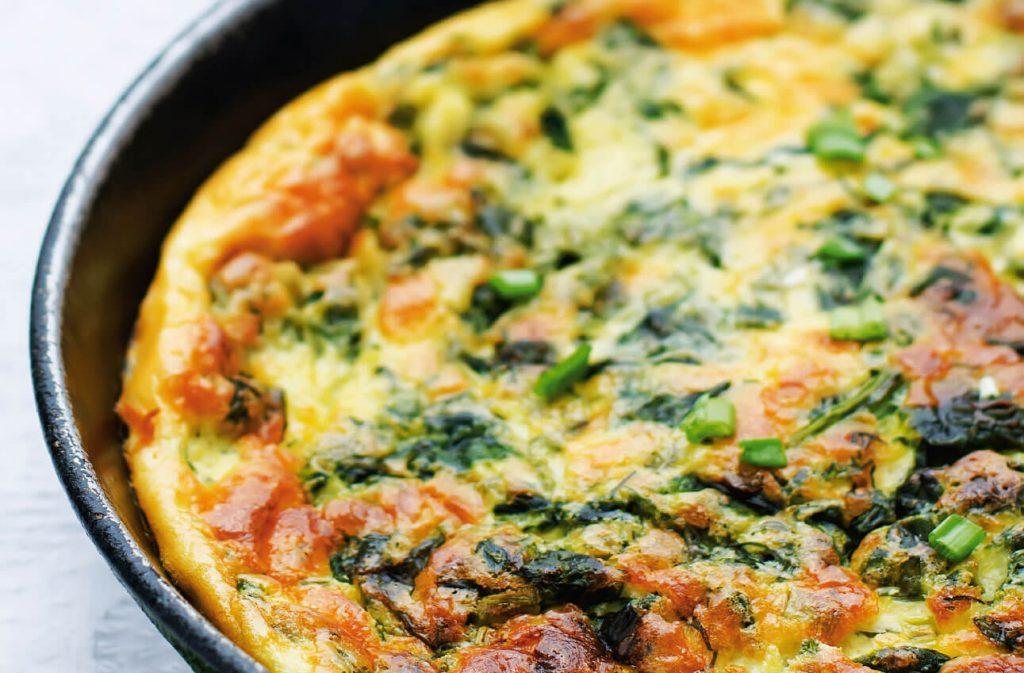 fırında sebzeli omlet