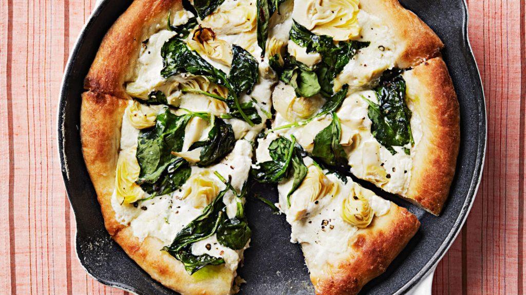 ıspanaklı fit pizza