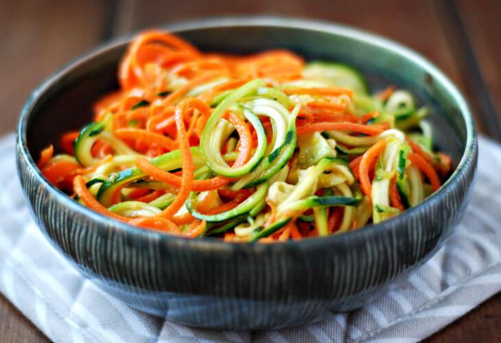 kabak ve havuç spagetti