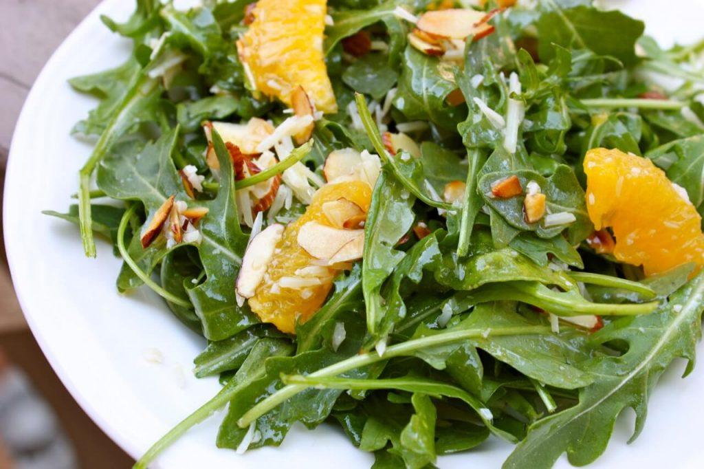 haşhaşlı portakallı roka salatası