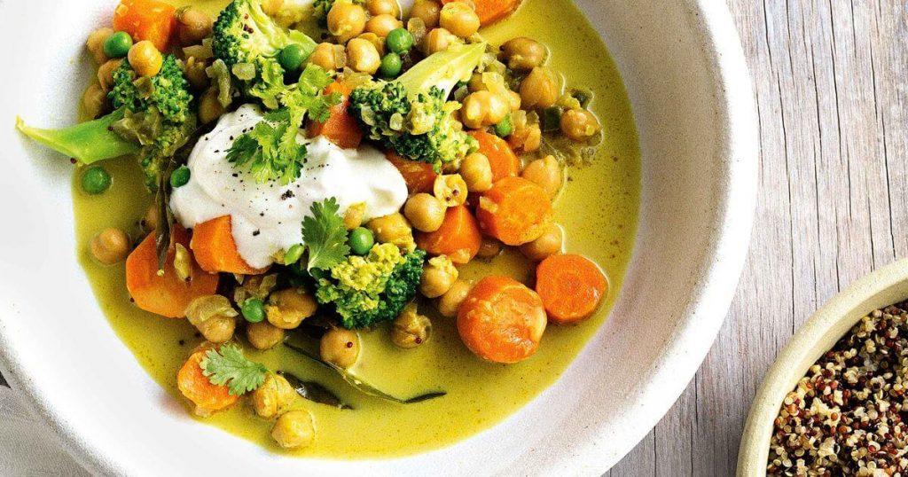 hindistan cevizi sütlü sebze