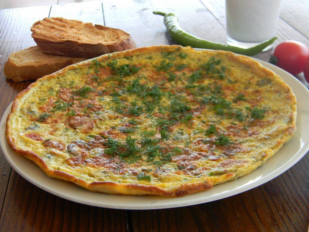 sebzeli puf omlet