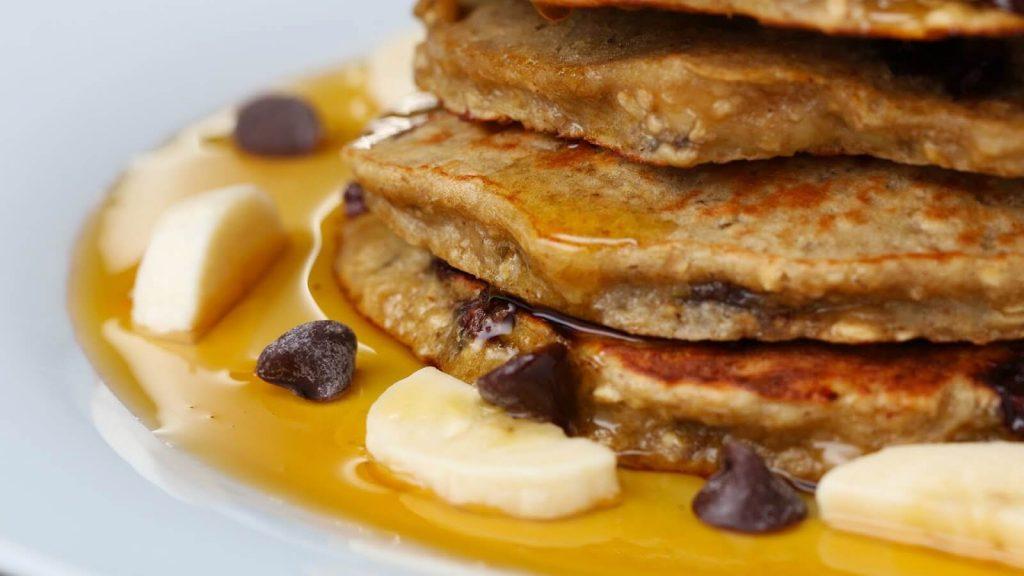 muzlu yulaflı pancake